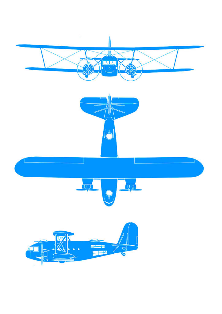 Schematic illustration from the book: Curtiss BT-32 Condor II